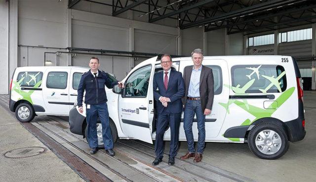 Flughafen Dortmund flottet fünf neue Elektrofahrzeuge ein