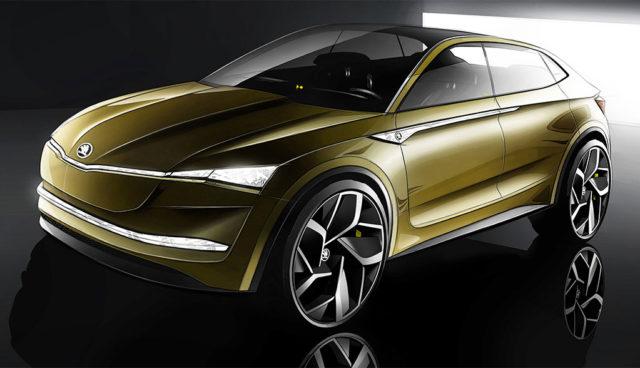 Elektroauto Skoda Vision E kommt 2020, fünf weitere reine Stromer bis 2025 geplant