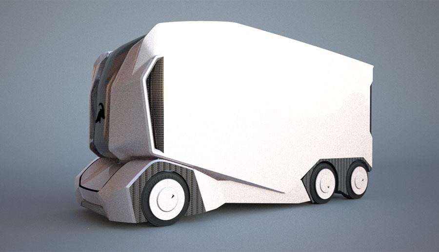 Einride-Elektro-Transporter