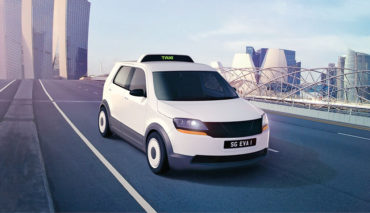 Elektroauto-Taxi-Roboterauto