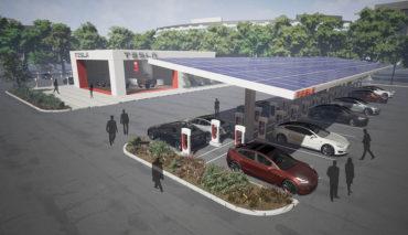 Tesla-Ladestationen.Supercharger-2017