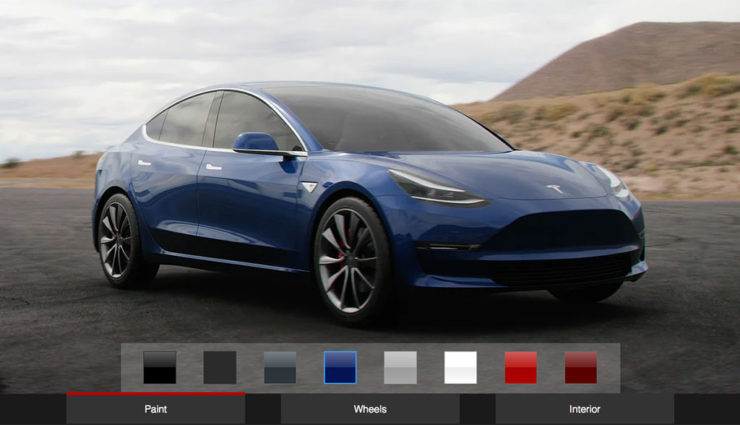 Vor dem offiziellen Start: Tesla Model 3 mit Fan-Konfigurator designen