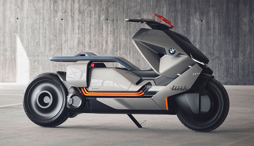 bmw zeigt elektro motorrad concept link bilder video. Black Bedroom Furniture Sets. Home Design Ideas
