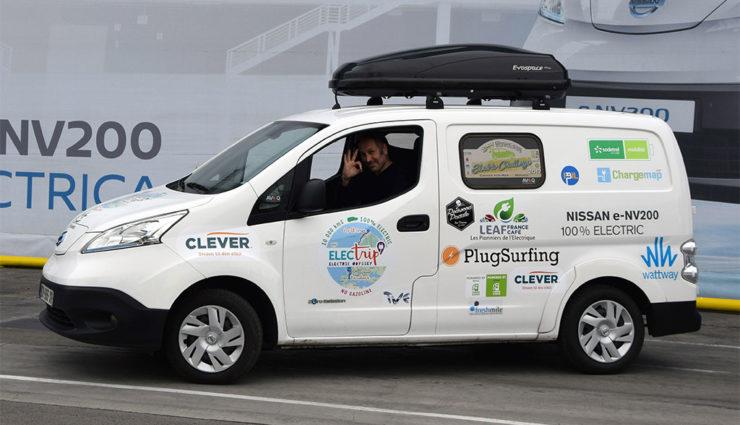 """Nissan """"Electrip"""": In 35 Tagen mit dem Elektro-Van quer durch Europa"""