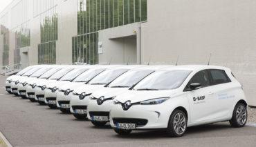 Elektroauto-Fuhrpark-Dienstwagen