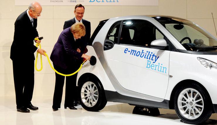 Merkel räumt ein: Elektroauto-Million bis 2020 wohl nicht mehr erreichbar