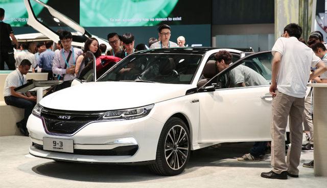 NEVS zeigt Saab 9-3 als Elektroauto