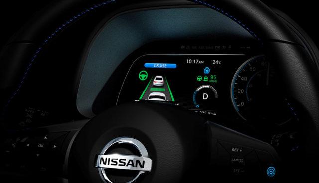 Neuer Nissan LEAF: Cockpit- und Selbstfahr-Teaser veröffentlicht