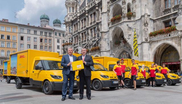 Deutsche Post bringt Elektro-Transporter StreetScooter nach München