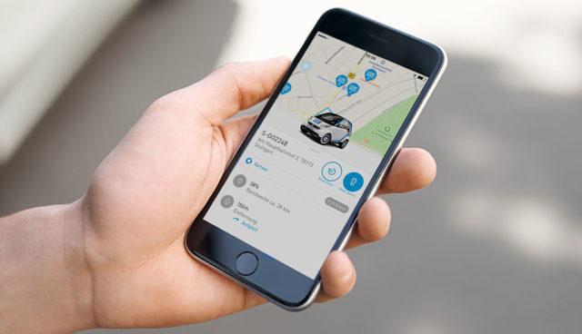 car2go-Elektroauto-Smartphone-App