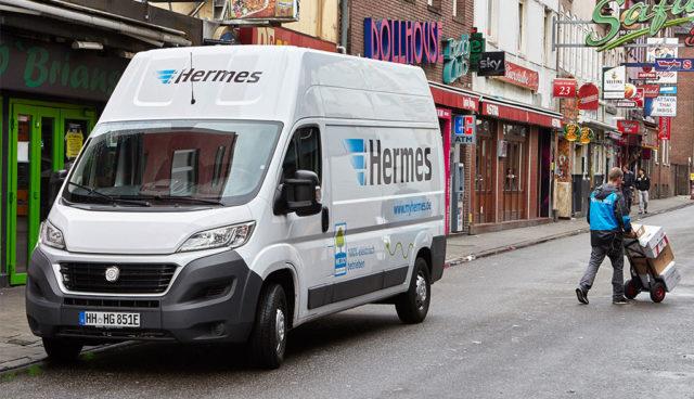 Hermes liefert mit Elektro-Transportern von emovum aus