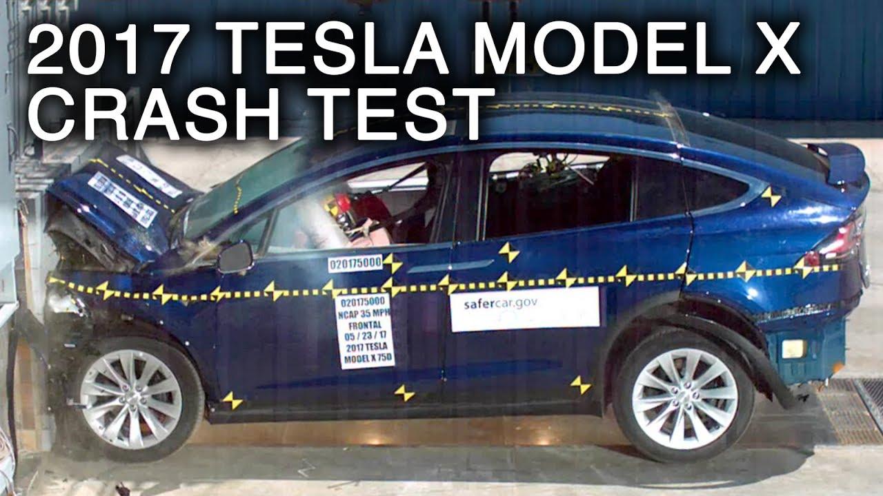 Us Behorde Tesla Model X Ist Das Sicherste Suv Crashtest Videos