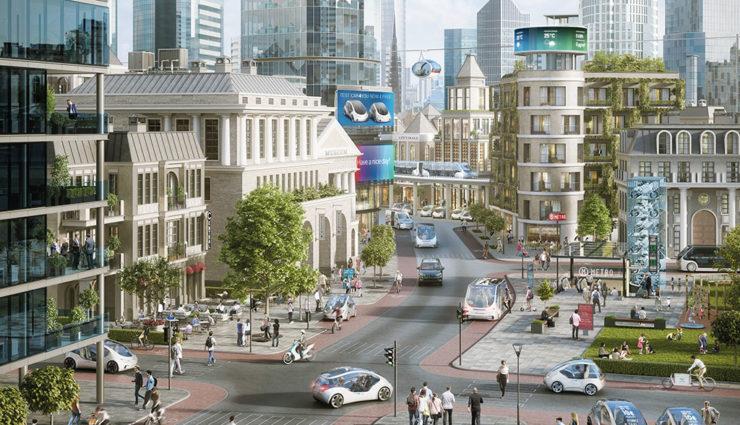 Die Zukunft liegt in der vernetzten Stadt