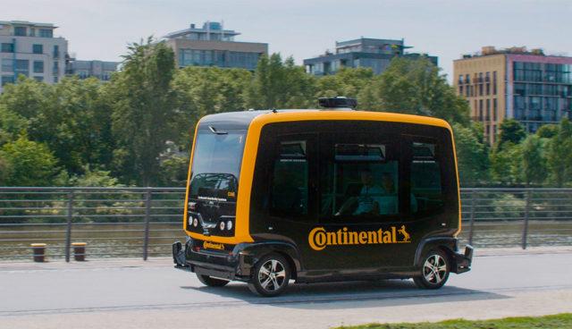 Projekt Cube: Continental arbeitet an autonomen Elektro-Shuttles