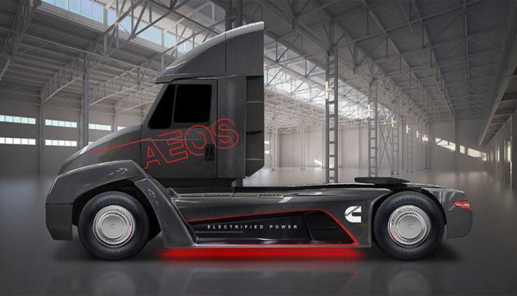 Cummins stellt Elektro-Lkw AEOS mit Schnellladefunktion vor