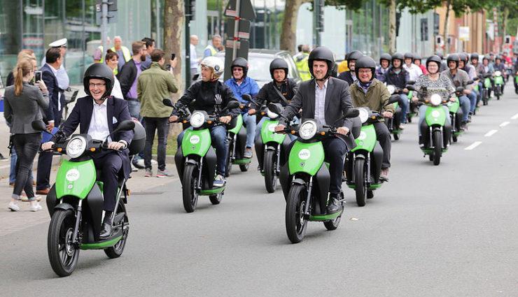 Elektro-Roller-Sharing Eddy startet in Düsseldorf