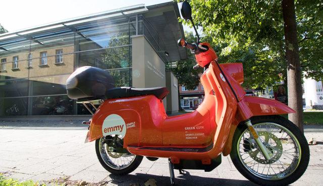 Elektro-Roller Sharing Emmy jetzt auch in München