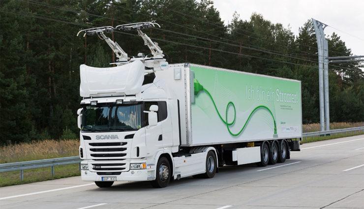Siemens baut Oberleitungen für LKW in Hessen