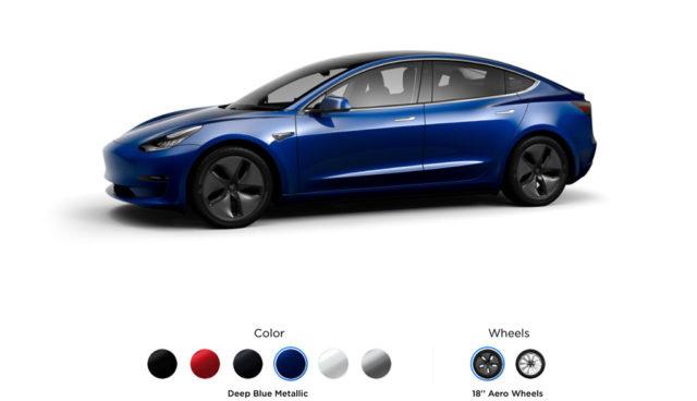 Tesla Model 3: So sieht der Online-Konfigurator aus