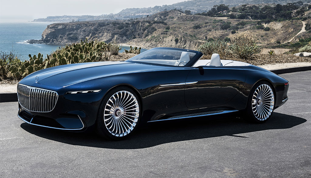 elektroauto luxus vision mercedes maybach 6 cabriolet bilder video. Black Bedroom Furniture Sets. Home Design Ideas