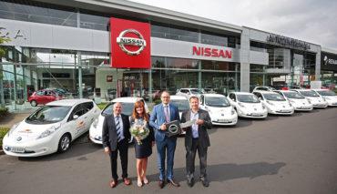 Carglass-Elektroauto-Nissan