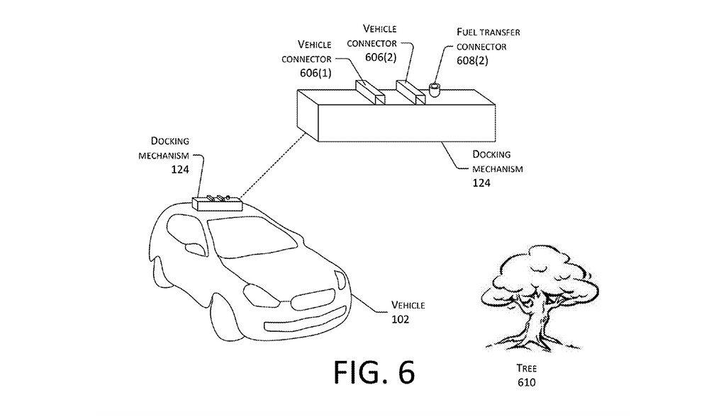Amazon-Elektroauto-Laden-Drohne