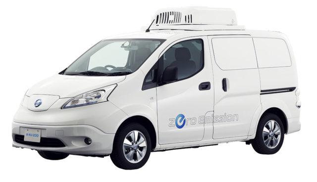 Nissan baut Elektro-Transporter e-NV200 zum mobilen Kühlschrank um