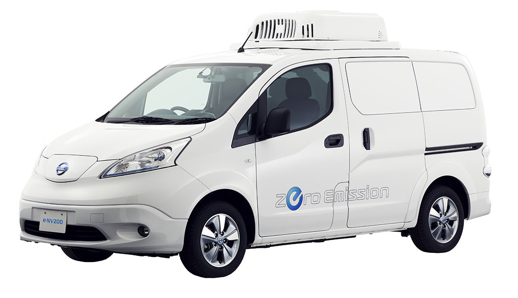 Kühlschrank Im Auto Transportieren : Nissan baut elektro transporter zum mobilen kühlschrank um