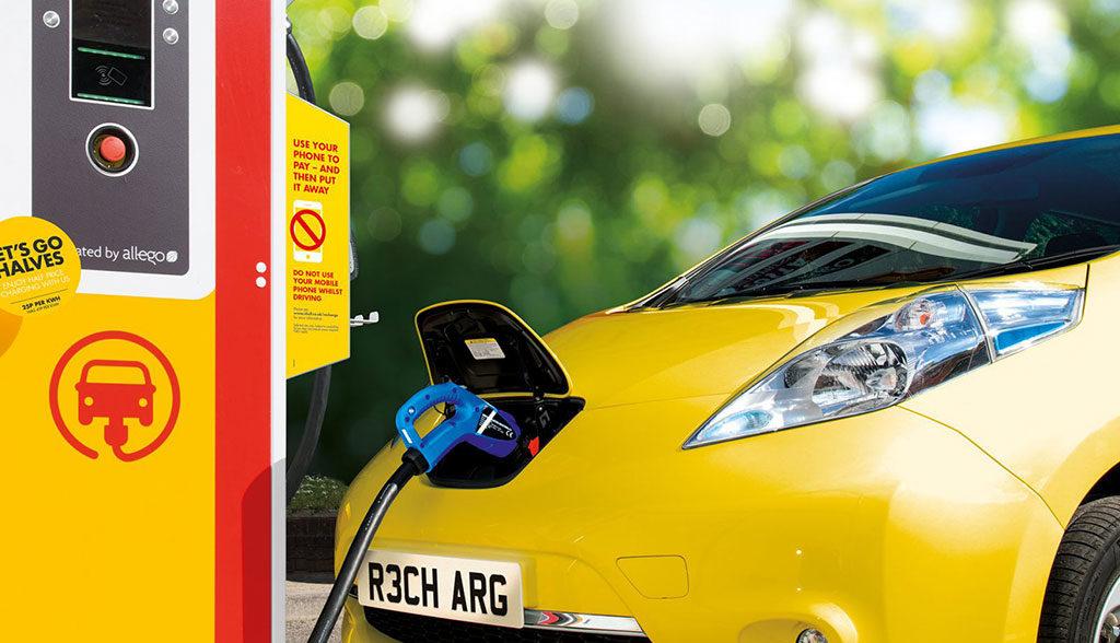 Shell-Elektroauto-Ladestation