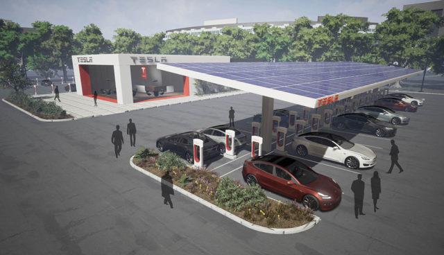 Tesla: Supercharger-Ladestandorte ähneln zunehmend Raststätten