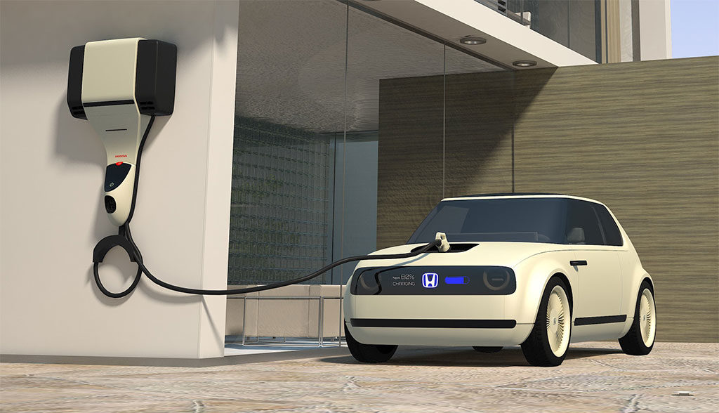 Honda-Elektroauto-Ladezeit