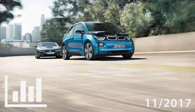Elektroauto- & Hybridauto-Zulassungen November 2017