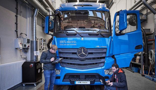 Mercedes: Elektro-Lkw eActros geht 2018 in den Kundeneinsatz
