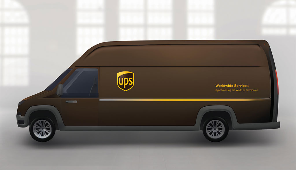 ups entwickelt eigene elektro transporter. Black Bedroom Furniture Sets. Home Design Ideas