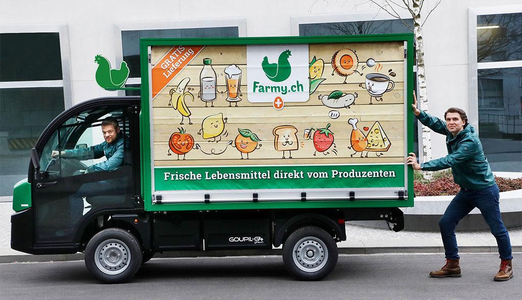 Farmy-Elektroauto-Transporter
