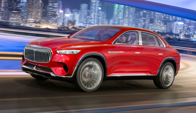 Daimler zeigt Crossover-Elektroauto Vision Mercedes-Maybach Ultimate Luxury