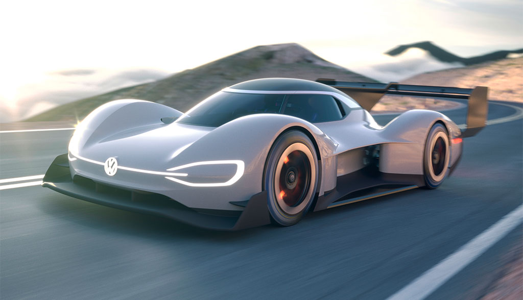 VW stellt Elektrorenner für das Pikes-Peak-Bergrennen vor