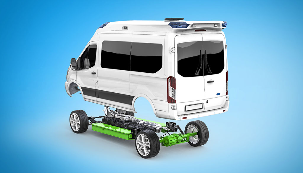 Ambulanz-Mobile-Rettungswagen-Hybridantrieb