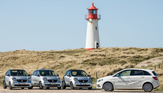 "Daimler startet Elektroauto-Service ""Mercedes me Explore Sylt!"""