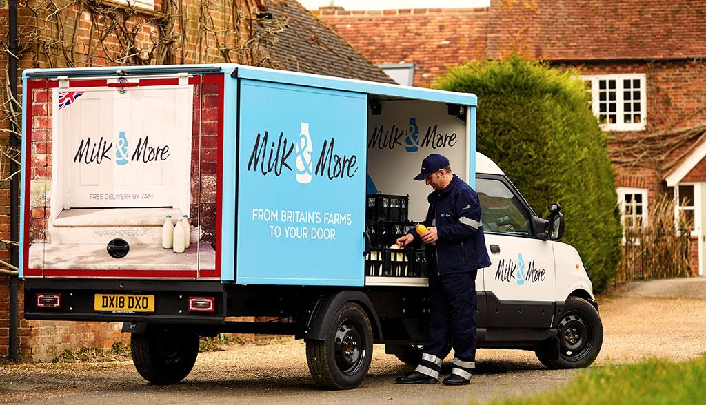 Umwelt: Britische Milchmänner kommen in Elektro-Lieferwagen der Deutschen Post