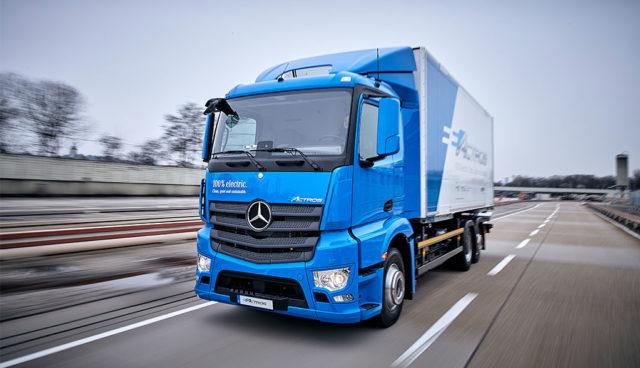 Bund fördert umweltfreundliche Lkw, Mautbefreiung für Elektro-Lkw geplant