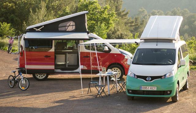 Elektro-Minivan Nissan e-NV200 wird zum Camper-Traum