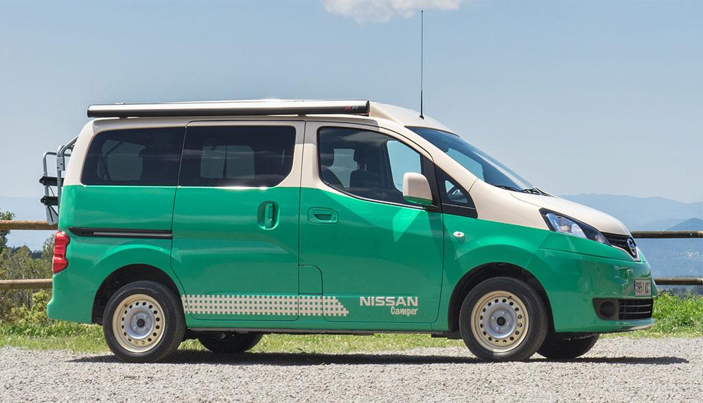elektro minivan nissan e nv200 wird zum camper traum. Black Bedroom Furniture Sets. Home Design Ideas