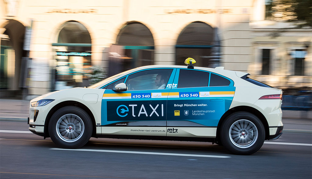 jaguar stellt elektroauto taxis f r m nchen. Black Bedroom Furniture Sets. Home Design Ideas