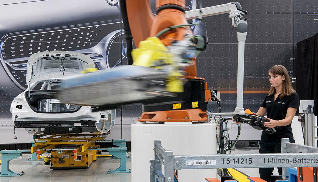 Mercedes-Batterieproduktion