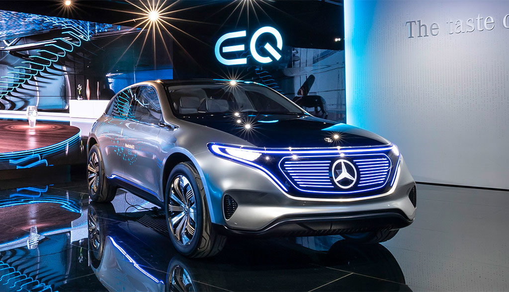 Mercedes-Tesla-Elektroauto