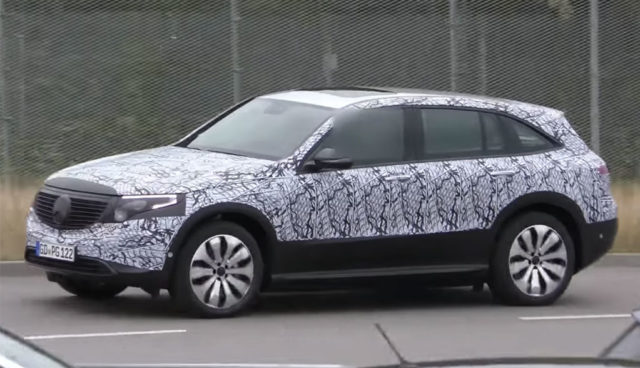 Mercedes Batterie-SUV EQC in seriennaher Version abgelichtet