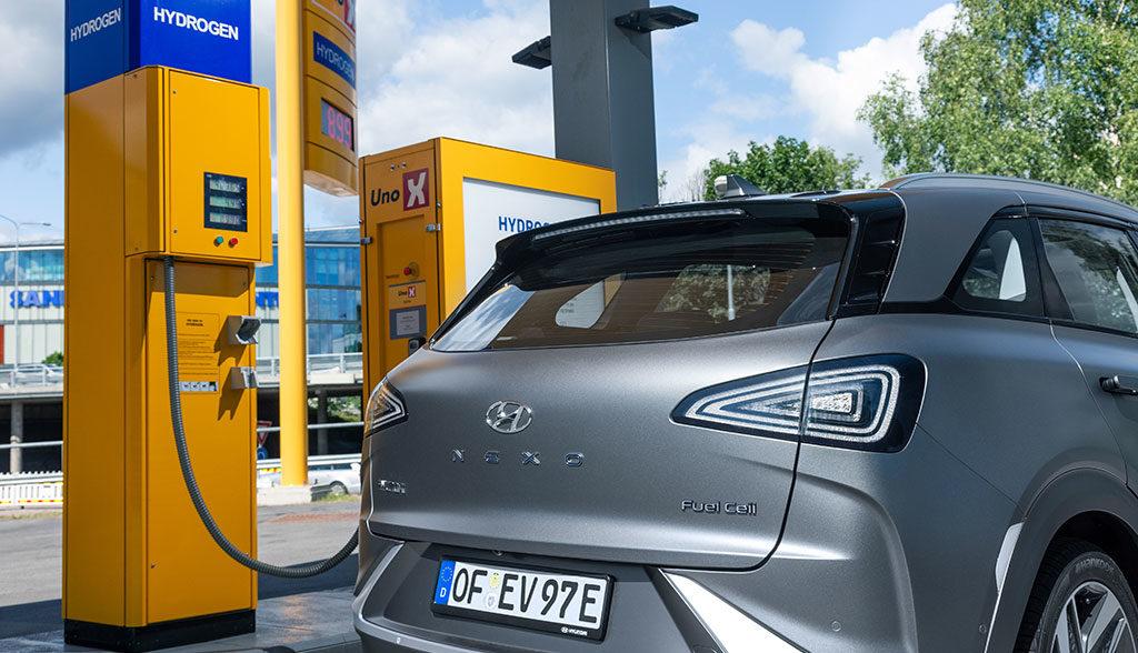 Tankstelle-Wasserstoff-Elektroautos–Hessen
