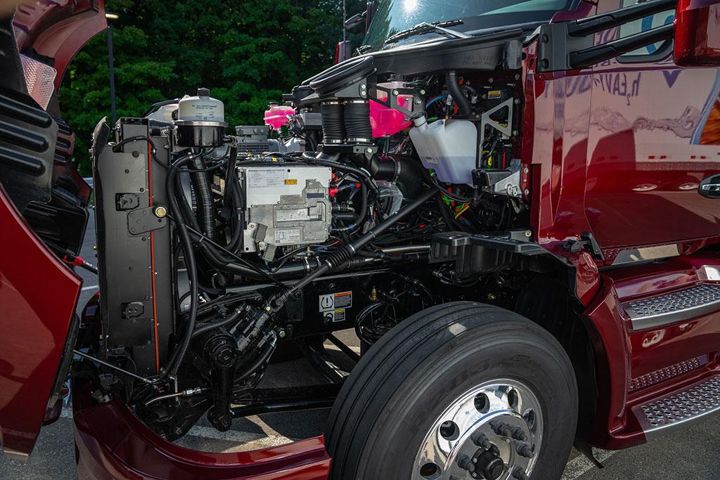 Toyota-Brennstoffzellen-Lkw-Technik