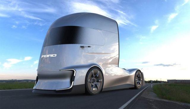Ford F-Vision: Futuristischer Elektro-Lkw mit Selbstfahr-Modus